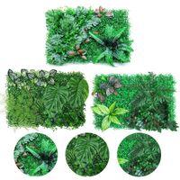 Decorative Flowers & Wreaths 40*60CM Hanging Plants Artificial Greenery Fern Grass Green Wall Plant Silk Hedge Fence Screen