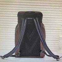 Веревочная крышка Backpack M43422 Путешествия Сумки Сумки HASP Fashion Classic Zack Tie Кожа Мужчины Спортивная емкость Альпинизм Большие рюкзаки Back quxp