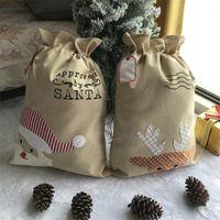 Décorations de Noël Sacs-cadeaux 50 * 70cm Sacs de cadeaux Ping'an Drawing Drawstring Sac de cordon Fournitures 831 B3