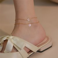 Anklets Fupai American 14k Gold Wrapped Foot Chain Simple Temperament Network Red Tide High Sense Personalized Design Gift