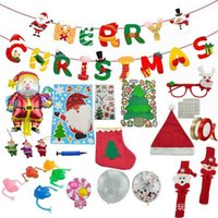 2021 Christmas Decompression Decorations Flag Lovely Snowman Dinosaur Finger Cover Poppers Bubbles Fidget Blind Box Children's Gift Toys Set H913IC85