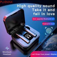 X9 عرض رقمي لاسلكي TWS الأذن التوصيل الثنائي باس مكالمة المحمولة مركب فيلم سماعات بلوتوث