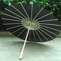 우산 76cm / 84cm 블랙 화이트 우산 댄스 오일 종이 실크 천으로 파라규스 파라솔 황금 중국어 파라 플루