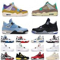 Sail Air Jordan 4 4S أحذية رجالي كرة السلة القط الأسود الأسمنت الأبيض ما هي رش الصبار جاك رمادي الرجال النساء الرياضة أحذية رياضية
