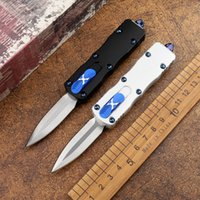 Mini Tactical Automatic Folding Knife Aviation Aluminum Handle D2 Blade Quick Opening Outdoor Hunting Self-defense EDC Tool Holiday Gift