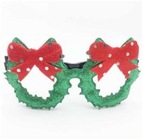Merry Christmas Glasses Frame Santa Snowman Tree Funny Party Masks Accessories Ornaments Xmas Decoration Fashion Kids Photo props Gift