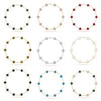 Мода 18K Золотой Четыре Лист Клевер VCAA Ювелирные Изделия Десять Цветы Ожерелье Хокеры Ожерелья Подвески Подвески