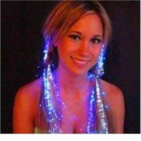 3PCS Colorful Glowful Diges Flash Fibre Baisse Flash Soie à cheveux en soie LED jouets en soie Glow dans le flash noir jouets lumineux orname qylkgt