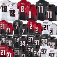 "8 Kyle Pitts Jersey Ridley Julio Jones Matt Ryan Younghoe Koo Todd Gurley II Football Atlanta ""Falcons"" Männer Dreoner Sanders Grady Jarrett Frank Darby A.j. Terrell"