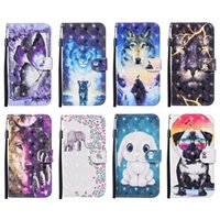 3D Leather Wallet Case For Iphone 13 Phone13 2021 12 Pro MAX 12 Mini 11 XR X XS MAX 8 7 6 Plus SE Lion Wolf Dog Butterfly Lovely Cartoon Animal Holder Phone Flip Cover Strap