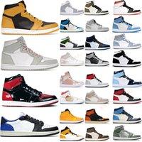 Retro Jumpman 1 1s Zapatillas de baloncesto para hombres Mujeres Lo más nuevo High og Pollen Seafoam Bred Patent University Gold Black Royal Toe Mid Heat Reactive Low Sneakers