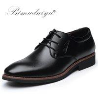 Dress Shoes BIMUDUIYU Brand High Quality Oxford Lace-Up Business Casual Male Formal Flat Work Sapatos