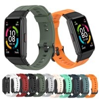 Watch Bands 16mm Split Silicone Strap For HUAWEI Band6 Smartwatch Accessories Watchband Bracelet Honor Band 6 Sport Replacement Correa
