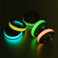 316L Titanium Steel Fluorescent Ring for Women Couple Lovers Rings 6MM Jewelry Gift Wholesale Price