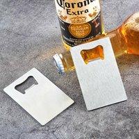 Polybag Emballage Pochette Portefeuille Taille En Acier Inoxydable Carte de crédit Ouvre-bouteille de bière Can Ouvrir Outil de cuisine DWE9657