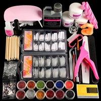 Nail Art Kits COSCELIA Acrylic Kit With UV LED Lamp Full Manicure Set Tools Powder Liquid Glitter All For
