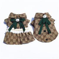 Модная пара домашних животных юбка дизайнерская буква домашние животные собака одежда весенний летний открытый щенок щенка Schnauzer бихон мопс кошка одежда