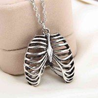 Euro-American Movie Jewelry Human Chest Anatomy Metal Alloy Pendant Necklace Whole 24pcs lot