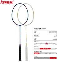 Kawasaki Badminton Raquette Attaque Firefox 3370 pour les hommes et femmes raquette de carbone avec une adhérence gratuite