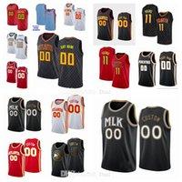 Custom Basketball Jersey Atlanta # 132; Hawks # 132; City 11 Trae # 132; Jeune 17 oneka Okongwu 22 Cam rougeâtre 3 Kevin Huerter 20 John Collins Jerseys blanc rouge noir