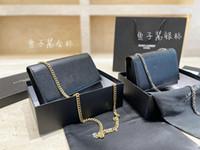 Retro Lüks Tasarımcı Marka kadın Omuz Çantası Moda Messenger Çanta Klasik Kate Siyah Güzel Tahıl Dokusu Satchel Çanta