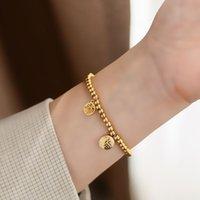 Elástico 18k oro titanio pulsera de acero femenino INS SENTENCIA DE CALIDAD Pulsera Pulsera Moda Accesorios de moda