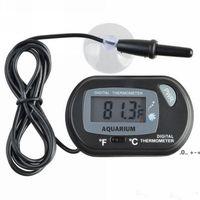 LCD الرقمية الحوض ميزان الحرارة أدوات الحرارة الأسماك خزان المياه متر الاستشعار قياس الإنذار لوازم الحيوانات الأليفة أداة RRE10470