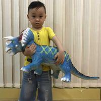 الأطفال لينة الغراء ديناصور لعبة محاكاة الحيوان نموذج العنيفة الملك التنين مثلث التنين دمية لعبة هدية