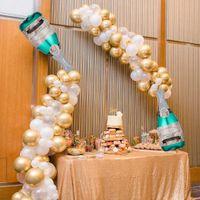 Шампанское бутылка шар гирлянды розовый золотой арки комплект день рождения выпускной свадьбы бакелоретка вечеринка фон украшения 210610