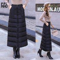Winter Frauen Elastische Hohe Taille Schwarzer Rock Dicke Warme Reißverschluss Slim Ein Wort Rock Weiblich Neue Mode Plus Größe 4XL Rock 210329