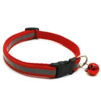 Hundehalsbänder mit Glockenreflektierende Blei Verstellbare Halskette Pet Welpen Kätzchen Mix Color Kragen Zubehör Pet Shop Produkte WLL319