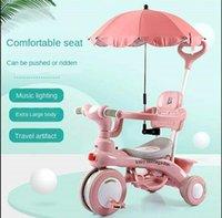 Bebê Triciclo pedal bicicleta 1-3 anos de idade crianças andar no carro ferramenta de passeio de três rodas de bicicleta criança criança com carrinhos de luz # 1
