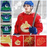 Bo Horvat Vancouver Canucks 2021 Chino Año Nuevo Jersey Braden Holtby Brandon Sutter Brock Boeser Quinn Hughes Tanner Pearson Jake Virtanen
