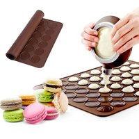 Rolling Pins & Pastry Boards 30 48Holes Silicone Baking Mat Macaron Cake Non-Stick Oven Pad Bakeware Tool