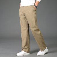 2021 Новые мужские толстые зимние брюки повседневные горячие грузовые молнии хлопок плюс размер 6xL модные брюки свободные рабочие мешковатые joger h4c9