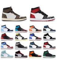 2021 erkek spor ayakkabı 1 s Chicago kırmızı orta üst basketbol yüksek üst sandalet boyutu rahat kadın 36-44