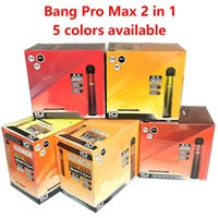 BANG PRO IN MAX DISPOSABLE 2000 2 Max Vapes Engångs elektronisk 1 Puff DUAL-FLA COMBINATION PRO BANG E-CIGS SWITCH 2IN1 ANVÄNDNING 5 CIGA SVDS