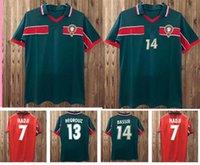1998 Coupe du Monde Rétro Maroc Soccer Jerseys 98 99 Maroc Accueil Hadji Bassir Ouakili NeqRouz Abrami Custom Vintage Cassique Chemise de football s