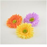 5 stücke Seide Gerbera Gänseblümchenköpfe Künstliche Blumen für Home Hochzeit Auto Party Festival Dekorative DIY Kranzmaterial Si Jlbsg