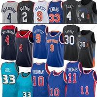 2021 New Westbrook Julius 4 Russell 30 Randle RJ 9 Barrett Basketball Trikots 4 Derrick Rose 33 Grant 11 Isiah Rodman Thomas Hill 10 Dennis Jersey