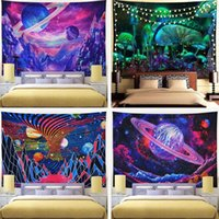 Tapestries Mushrooms Tapestry Wall Hanging Home Decoration Colorful Abstract Trippy Camping Mattress Sandy Beach Rug Blanket