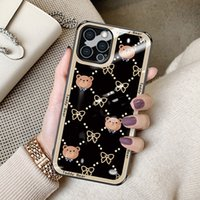 Luxury Design 9D Rugged Temper Glass Phone Cases For iPhone 13 Pro Max 12 11pro Xr Xs X 6s 7 8 Samsung Note20 Ultra S21 Plus S20 S9 Customize LOGO Scratchproof 3-in-1 Cover