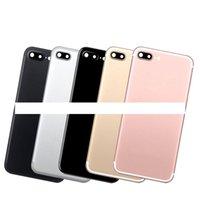 Para Apple iPhone 7 Plus Metal Bateria Bateria Bateria Capa de porta traseira para iPhone 7P Voltar Habitação Média Chassis Substituição