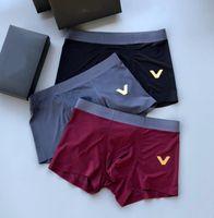 Mode Hommes Designer Boxers avec lettres Sous-robe de haute qualité Sexy Hommes Boxer Casual Shorts Sous-vêtement Sous-vêtements respirants Sous-vêtements 5 couleurs
