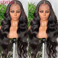 Spitze Perücken Levita 28 30 32 Zoll langes Haar Perücke Body Wave Front 4x4 Schließung Brasilianer Lacefront Human für Frauen