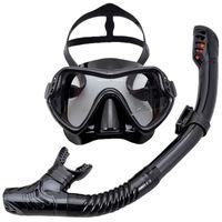 Diving Masks Professional Scuba Mask Set Anti Fog Goggles With Snorkel Glasses Tube Adjustable Strap For Women Men Adult Swimming