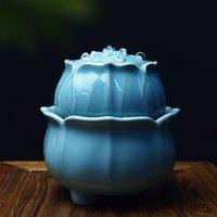 Keramik Lotus Wasserbrunnen Feng Shui Ornamente Büro Desktop Waterscape Handwerker Zen Wohnzimmer Dekoration Hochzeit Geschenk