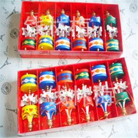 Vintage Wood Carousel Horse Christmas Tree Pendant hanging Ornaments Romatic Wedding Birthday Hen Party decor kids toy favors with gift box FY4836