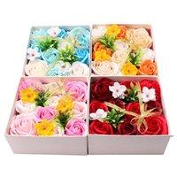 Garofano floreale regalo confezione regalo madri regalo regalo sapone fiore bouquet simulazione carnation piccola scatola quadrata rossa dwa3882