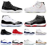 Nike Air Jordan 11 Retro Anniversaire Légende Blue Cap et robe Concord 23 45 Baskets de sport pour hommes